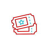 istock Ticket line icon. Editable Stroke 1294822145