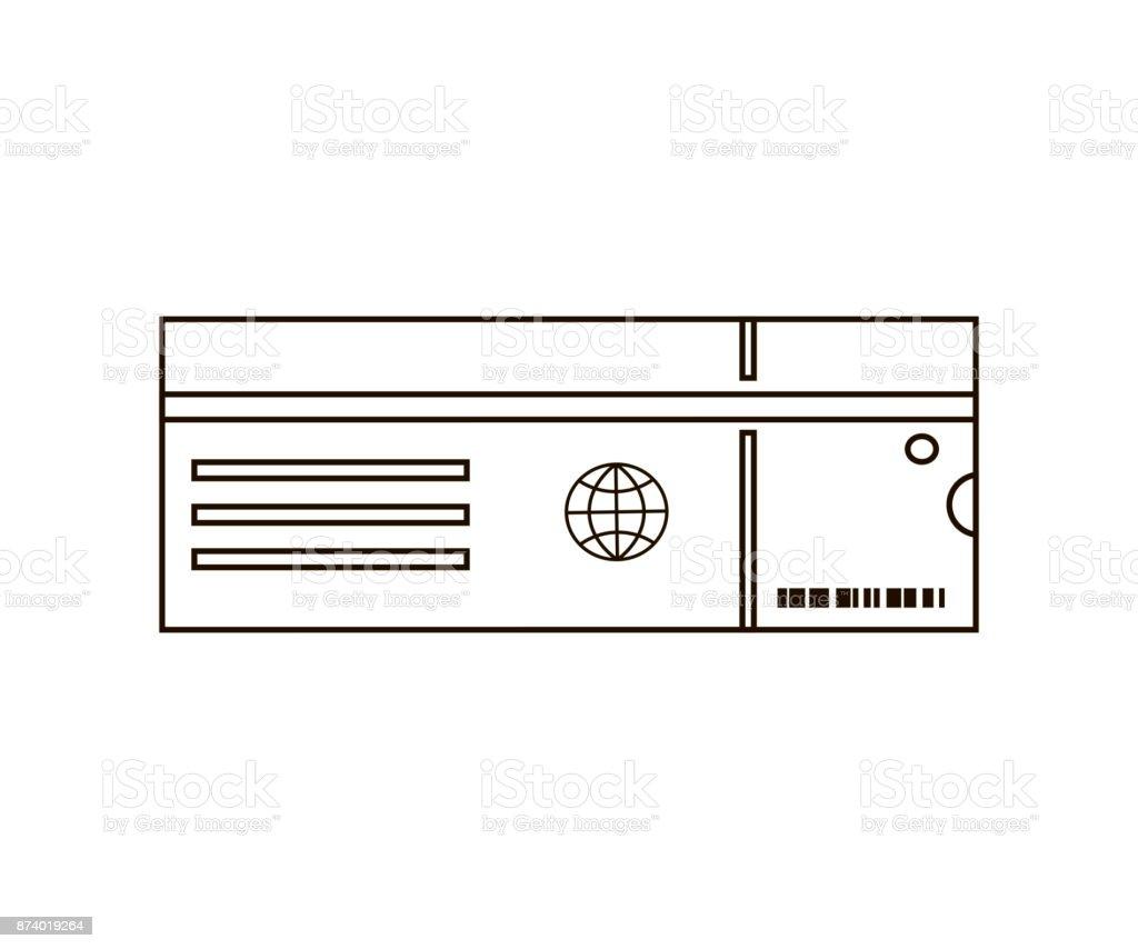 Icono de línea de entrada - ilustración de arte vectorial