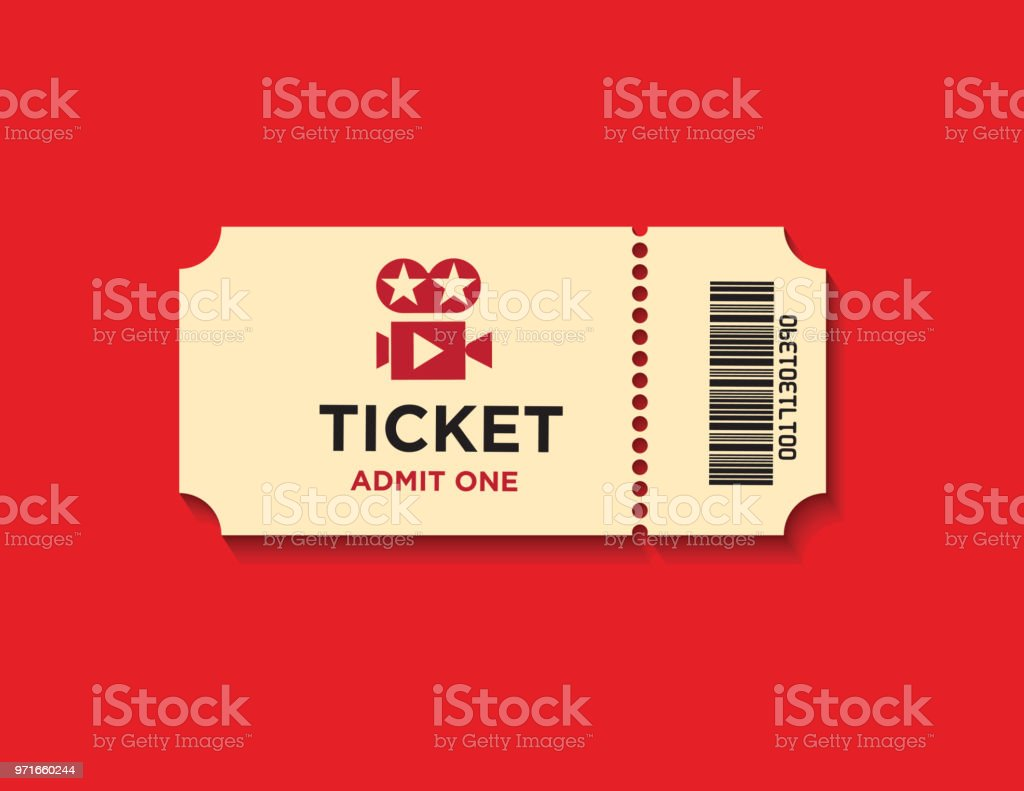 Ticket On Red Background