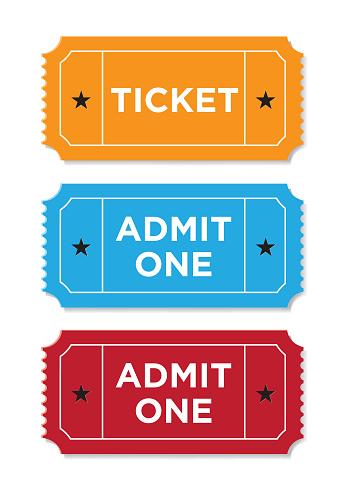 Ticket Set On White Background
