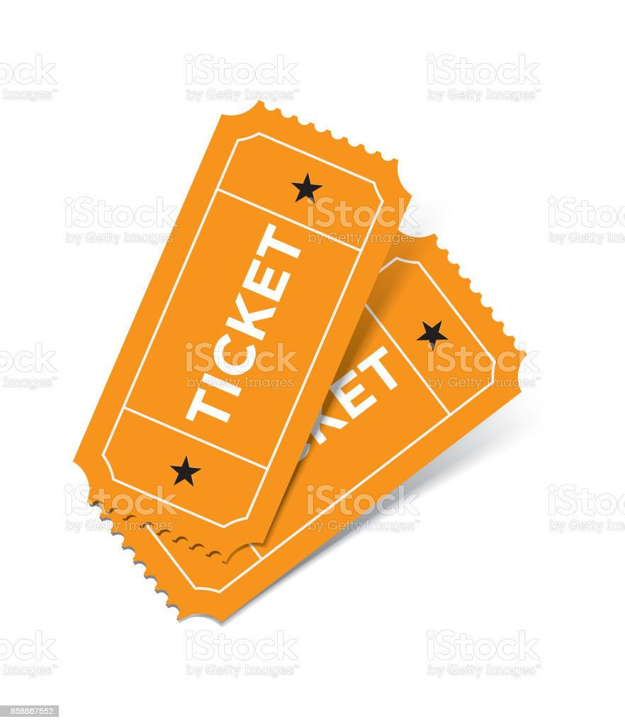 Ticket Set On White Background