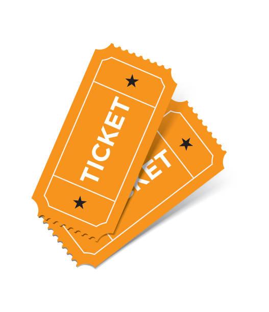 흰색 바탕에 티켓 세트 - 티켓 스텁 stock illustrations