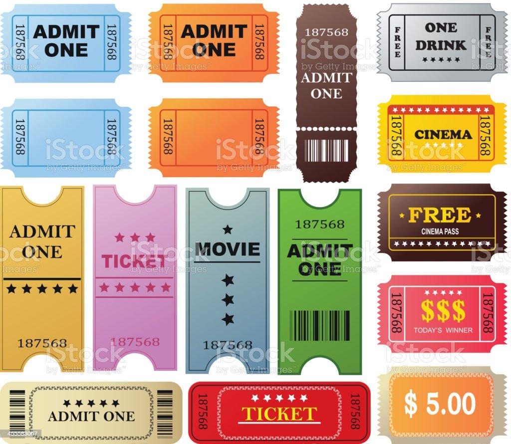Ticket set royalty-free stock vector art