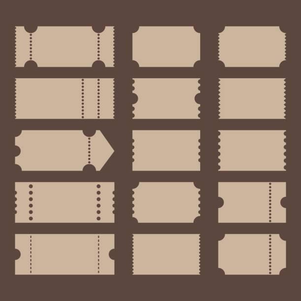 티켓 모양 - 티켓 스텁 stock illustrations