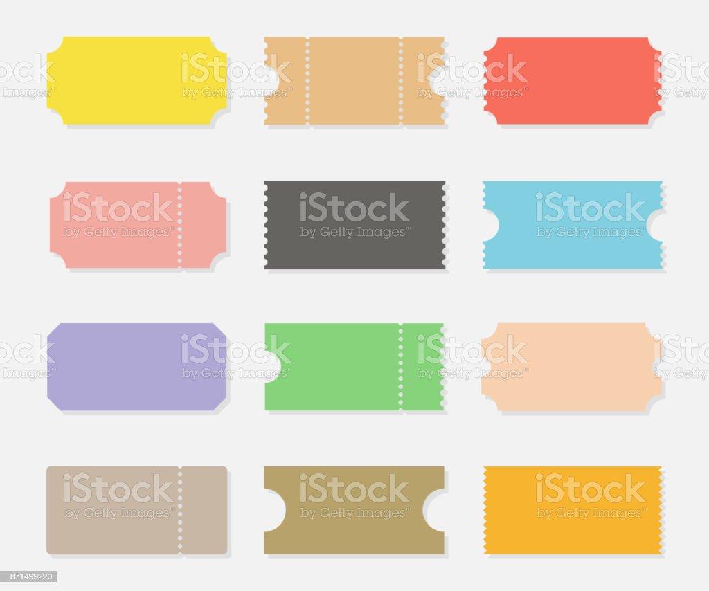 Ticket stubs vector set - ilustración de arte vectorial