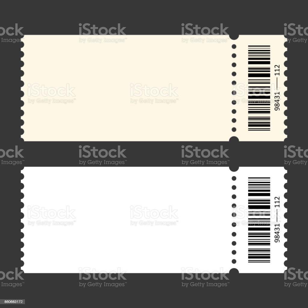 Ticket template. isolated on a transparent background vector art illustration