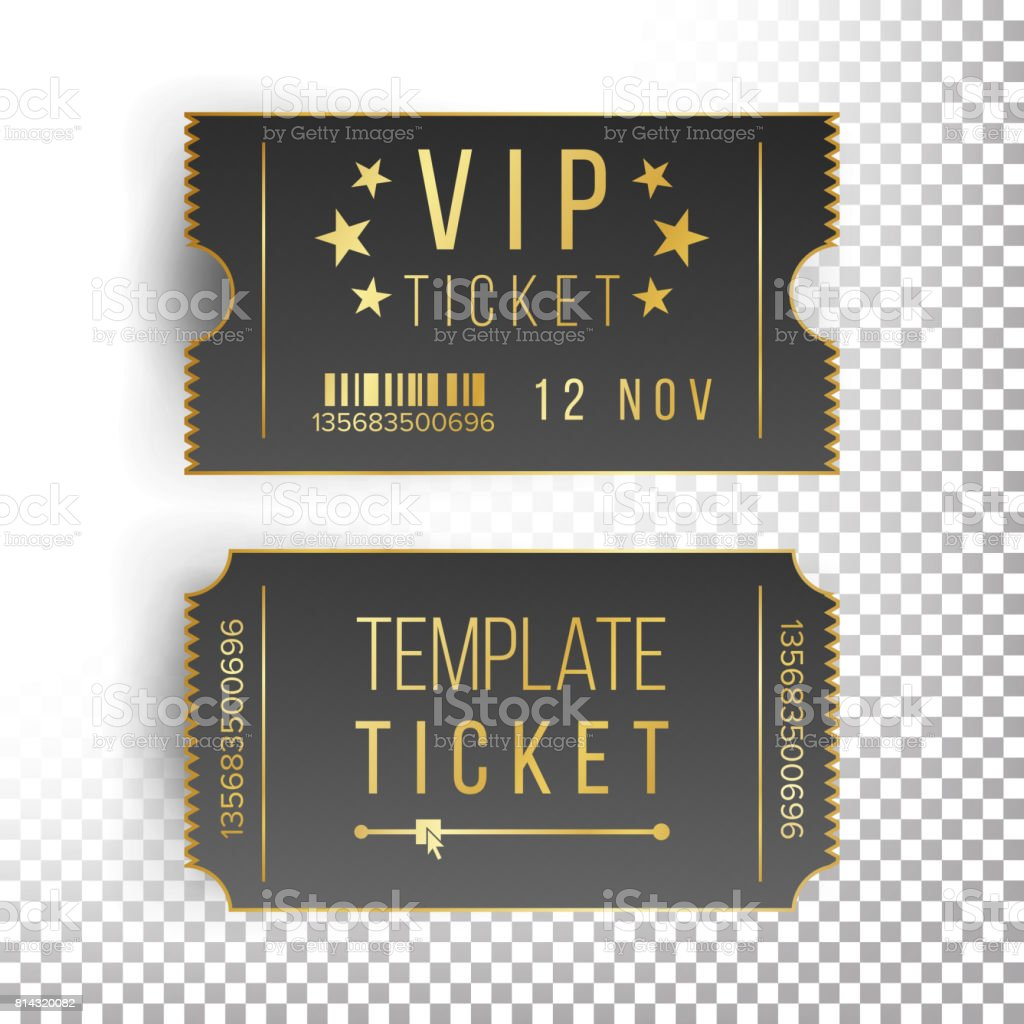 Ticket Template Set Vector. Invitation Coupon. Isolated vector art illustration