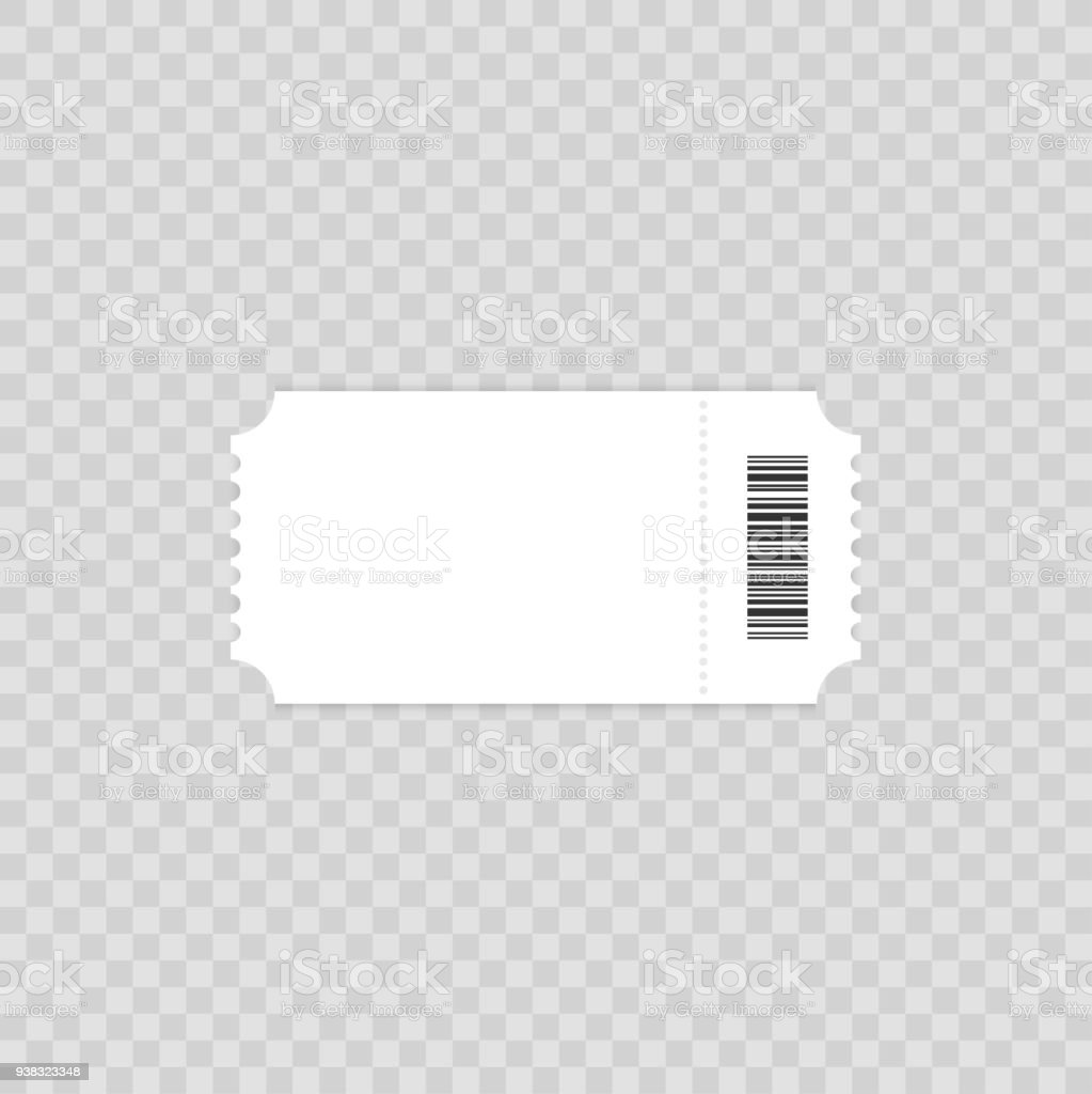 Ticket template. Ticket Element guideline for design. Clean realistic pass mockup. Flat design, vector illustration on background. vector art illustration