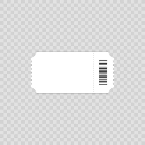 티켓 템플릿입니다. 티켓 요소 디자인을 위한 지침 서입니다. 현실적인 패스 이랑 청소. 평면 디자인, 벡터 배경 그림. - 티켓 스텁 stock illustrations