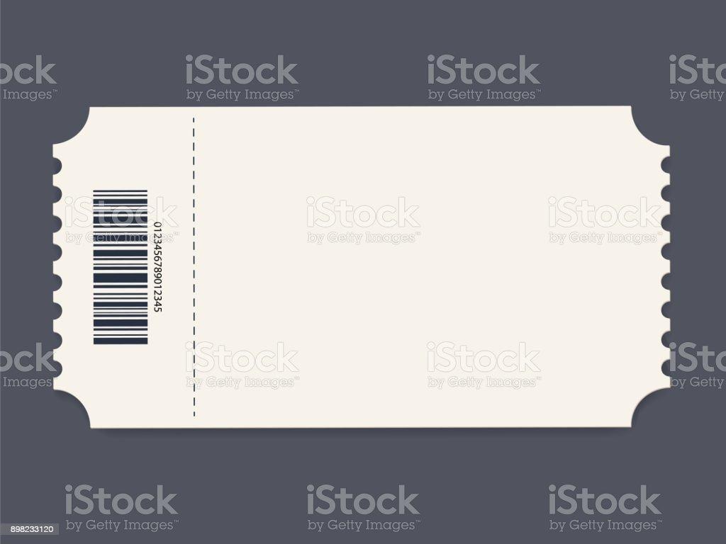 Plantilla de entrada. Vector de - ilustración de arte vectorial