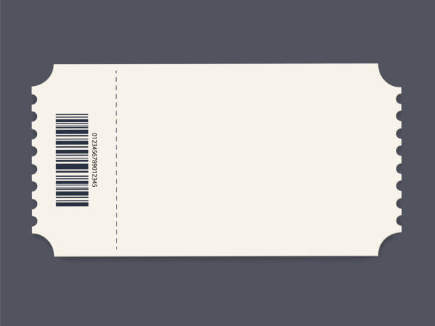 ticket template. vector - tickets and vouchers templates stock illustrations