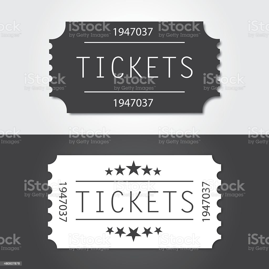 Ticket to old vintage style vector art illustration