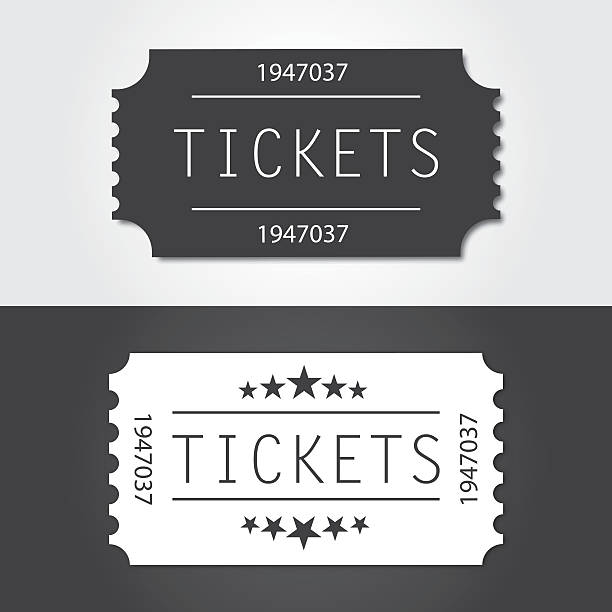 항공권 늙음 빈티지 스타일 - 티켓 스텁 stock illustrations