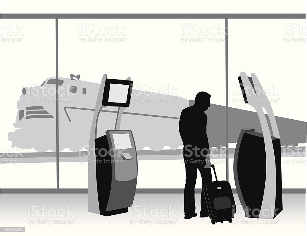 Ticket To Ride Vector Silhouette royalty-free stock vector art
