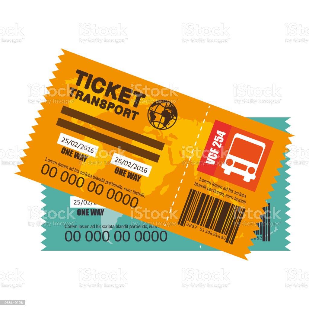 icono de boleto viaje autobús - ilustración de arte vectorial