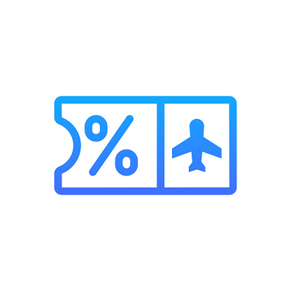 Ticket Vector Icon. Hotel and Services Symbol EPS 10