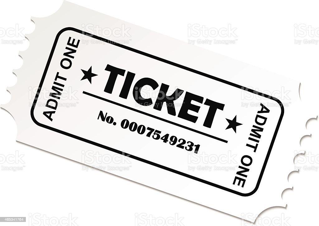 royalty free ticket stub pics clip art vector images rh istockphoto com Movie Ticket Clip Art ticket stub clipart