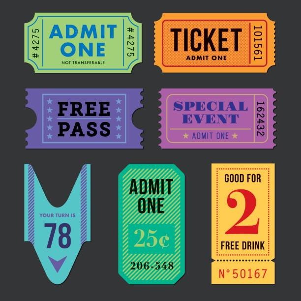 tickets and coupon set. - ticket stock illustrations