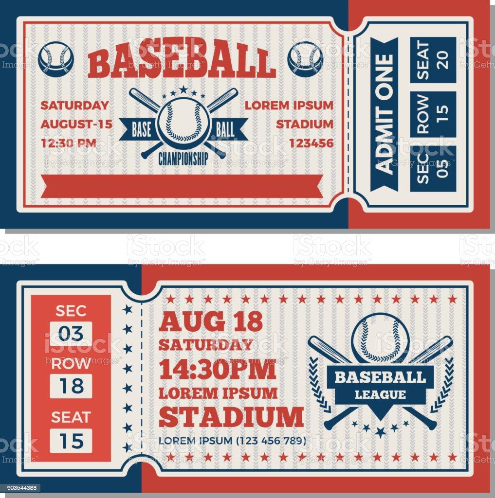 チケットのデザイン テンプレート野球大会 アメリカ合衆国のベクターアート素材や画像を多数ご用意 Istock