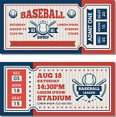 istock Tickets design template at baseball tournament 903544388