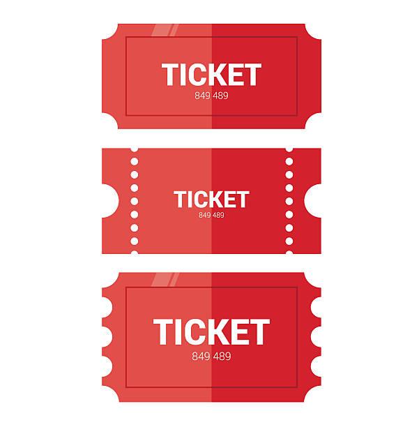 티켓 아이콘크기. 평편 설계 - 티켓 스텁 stock illustrations