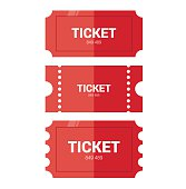 Tickets icon. Flat design