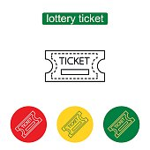 Tickets icon. Outline illustration