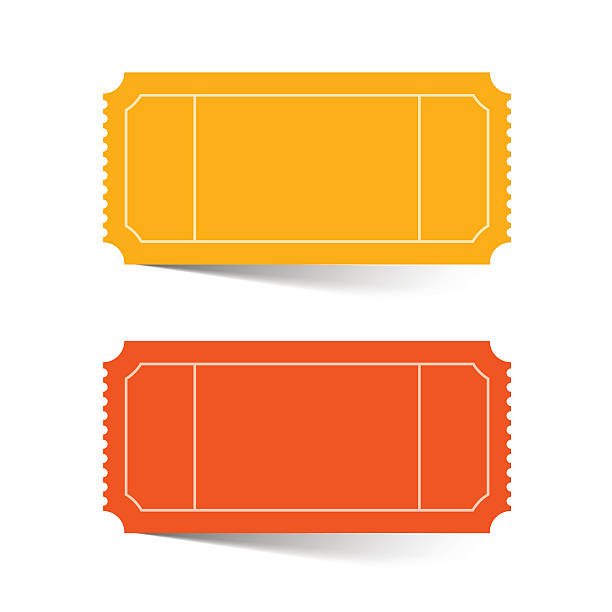 Tickets Set - Red and Orange Vector Tickets Set - Red and Orange Vector Illustration Isolated on White coupon stock illustrations