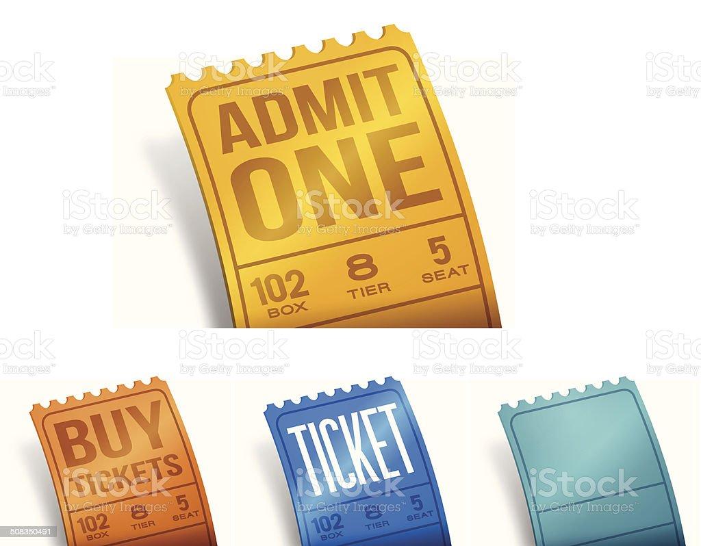 Tickets vector art illustration