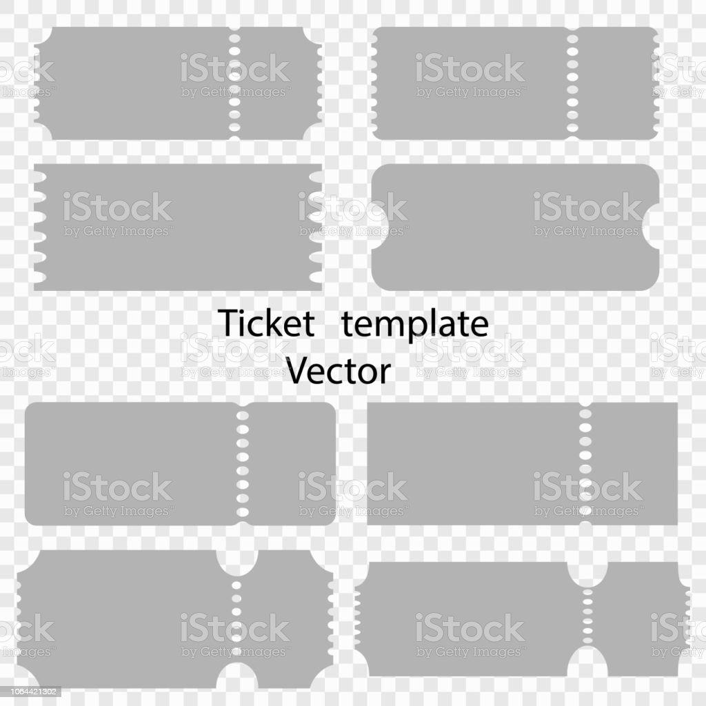 孤立した背景テンプレートのチケット ベクター映画館劇場サーカスの