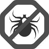 Ticks acarine free safety sign