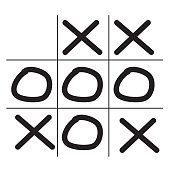 tictactoe game icon on white background. flat style. tictactoe game icon for your web site design, logo, app, UI. game symbol. tictactoe sign.