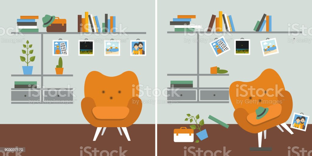 Royalty Free Messy Livingroom Clip Art Vector Images