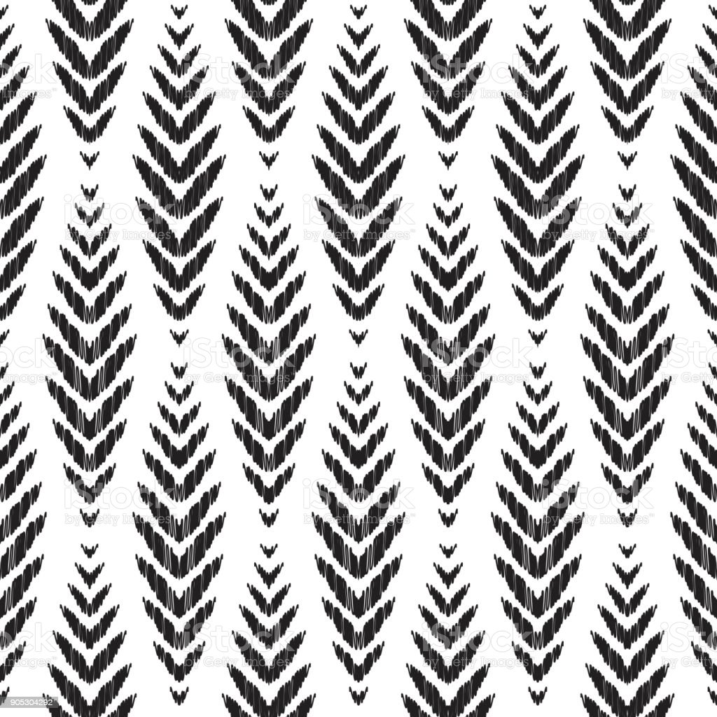 Ikat seamless pattern. Fashion wallpaper. vector art illustration