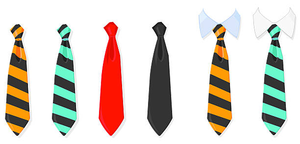 stockillustraties, clipart, cartoons en iconen met tie and collar - overhemd en stropdas