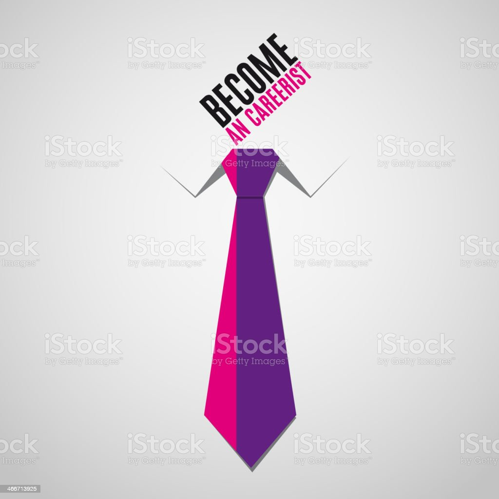 Tie business - become an carrerist bacground vector vector art illustration