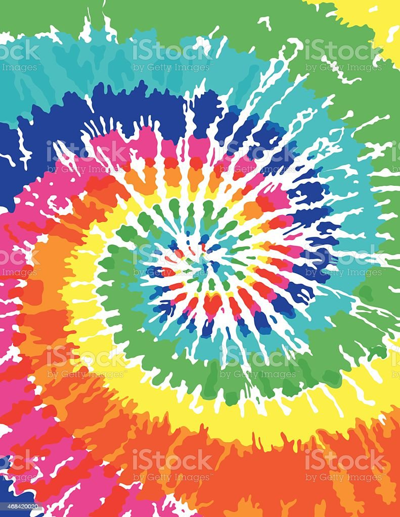 Tie Dye Background - Royalty-free 1960 vectorkunst