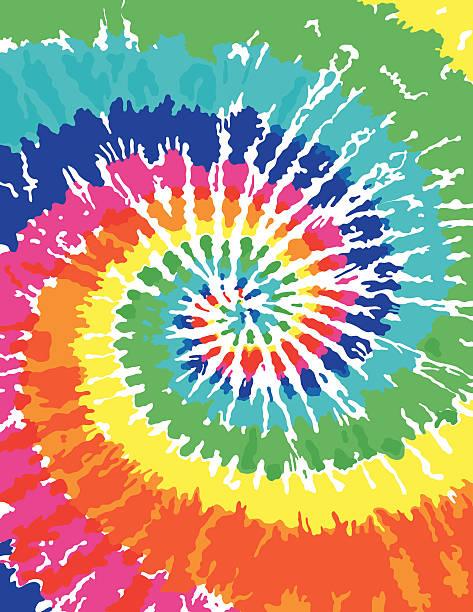 stockillustraties, clipart, cartoons en iconen met tie dye background - hippie