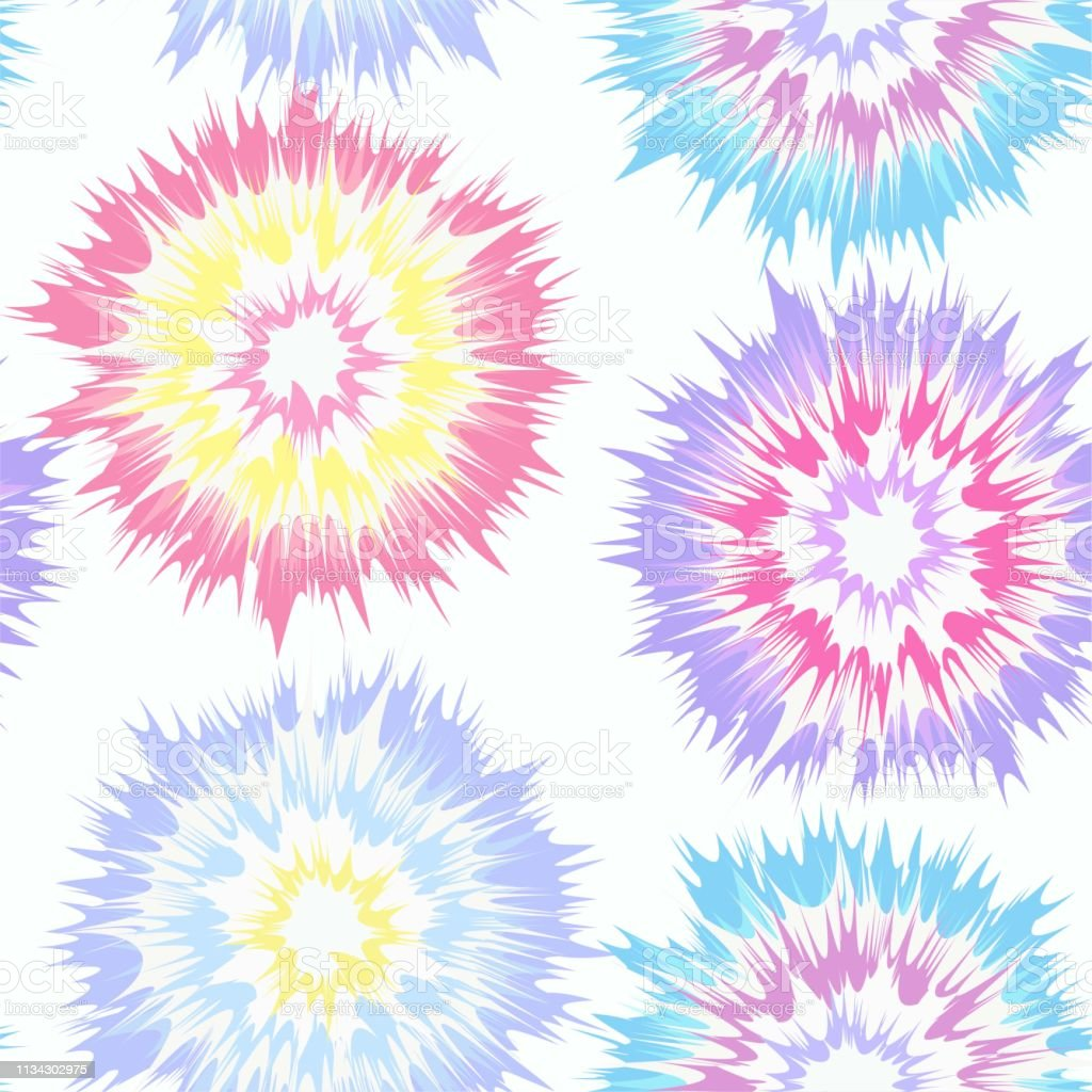 a3b418fe1 Tie Dye Circle Seamless Vector Repeat Pattern in Pastel Multi Colors -  Illustration .