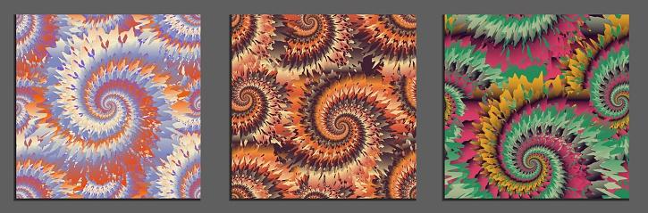 tie dye seamless patterns bundle
