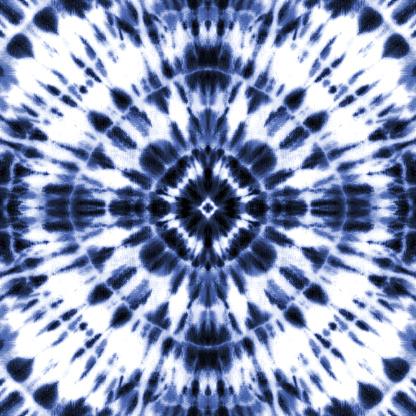 Tie dye shibori pattern. Abstract texture. Vector