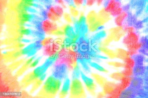 istock Tie dye spiral shibori colorful watercolour abstract background 1304102812