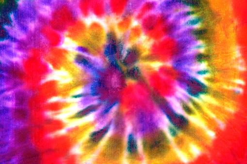 Tie dye spiral shibori colorful watercolour abstract background