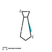 istock Tie Flat Lineal Icon with Editable Stroke 1310489201