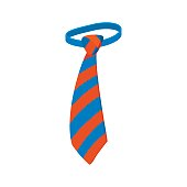 Tie icon, cartoon style