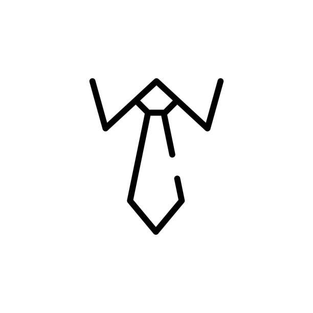 symbol zu binden. element der business starten sie symbol für mobile konzept und web-apps. dünne linie krawatte symbol einsetzbar für web und mobile geräte - batikhemden stock-grafiken, -clipart, -cartoons und -symbole
