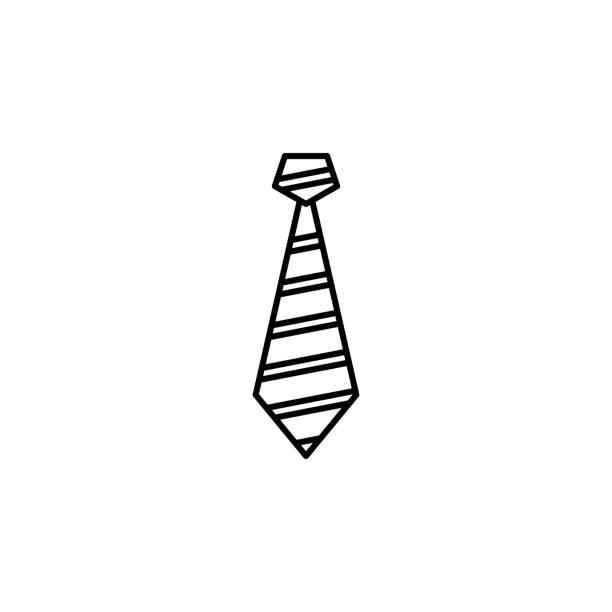 symbol zu binden. element der kleidung symbol für mobile konzept und web-apps. dünne linie krawatte symbol einsetzbar für web und mobile geräte - batikhemden stock-grafiken, -clipart, -cartoons und -symbole
