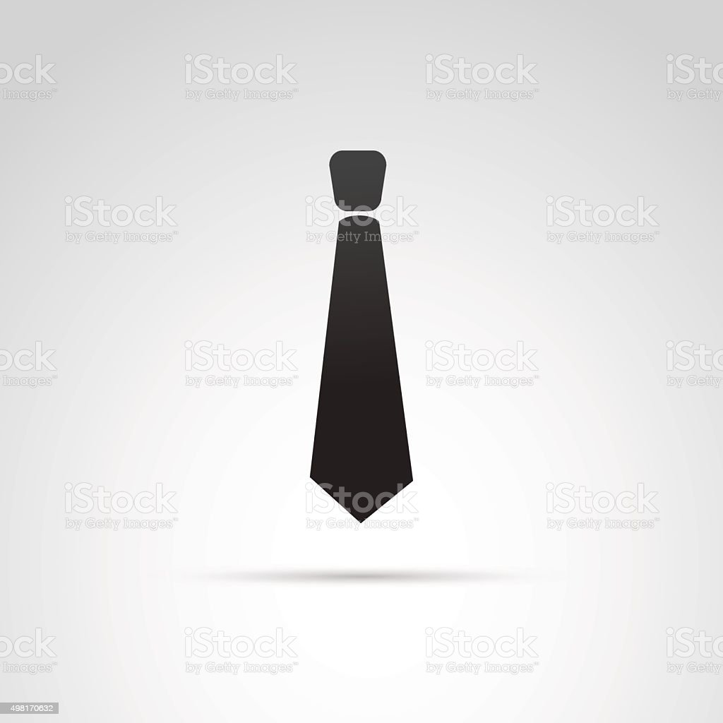 Tie icon isolated on white background. vector art illustration