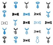Tie icon set