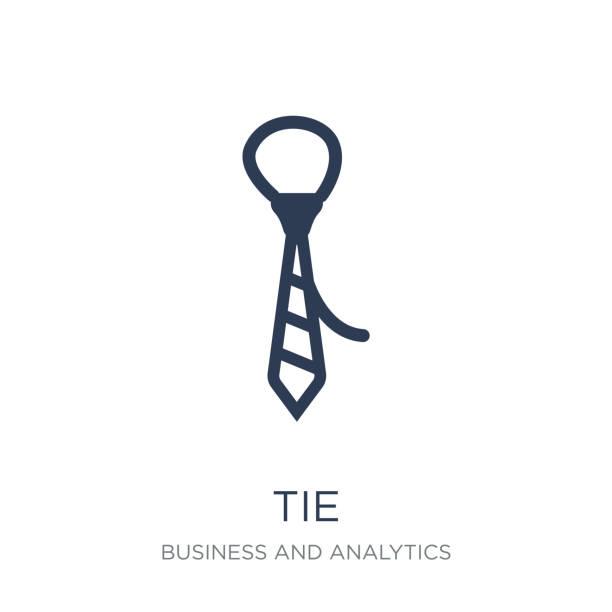 krawatte-symbol. trendige wohnung vektor krawatte symbol auf weißem hintergrund aus business und analytics-sammlung - batikhemden stock-grafiken, -clipart, -cartoons und -symbole